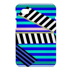 Blue lines decor Samsung Galaxy Tab 7  P1000 Hardshell Case