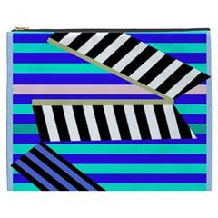 Blue lines decor Cosmetic Bag (XXXL)