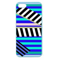 Blue lines decor Apple Seamless iPhone 5 Case (Color)