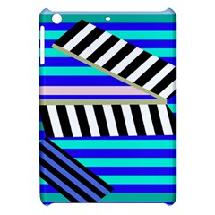 Blue lines decor Apple iPad Mini Hardshell Case