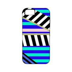 Blue lines decor Apple iPhone 5 Classic Hardshell Case (PC+Silicone)