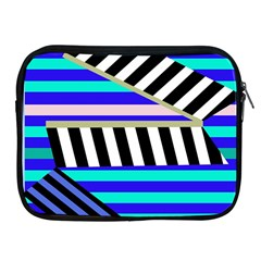 Blue lines decor Apple iPad 2/3/4 Zipper Cases