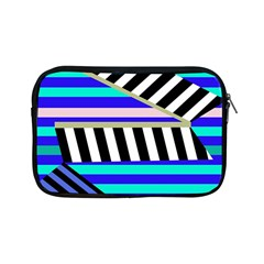 Blue lines decor Apple iPad Mini Zipper Cases
