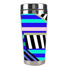 Blue lines decor Stainless Steel Travel Tumblers
