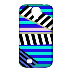 Blue lines decor Samsung Galaxy S4 Classic Hardshell Case (PC+Silicone)
