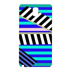 Blue lines decor Samsung Galaxy Note 3 N9005 Hardshell Back Case