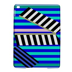 Blue lines decor iPad Air 2 Hardshell Cases