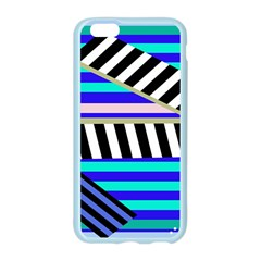 Blue lines decor Apple Seamless iPhone 6/6S Case (Color)