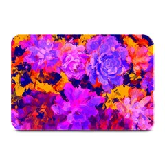 Purple Painted Floral and Succulents Table Mat