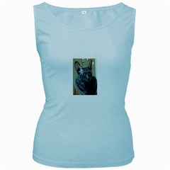 Cornish Rex, Blue Women s Baby Blue Tank Top