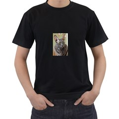 Cornish Rex, Blue Men s T-Shirt (Black) (Two Sided)