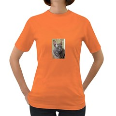 Cornish Rex, Blue Women s Dark T-Shirt