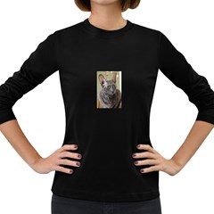 Cornish Rex, Blue Women s Long Sleeve Dark T-Shirts