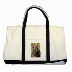 Cornish Rex, Blue Two Tone Tote Bag