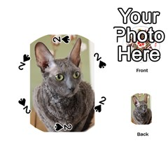 Cornish Rex, Blue Playing Cards 54 (Round)