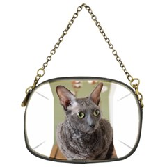 Cornish Rex, Blue Chain Purses (Two Sides)