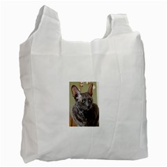 Cornish Rex, Blue Recycle Bag (Two Side)