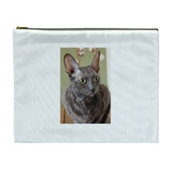 Cornish Rex, Blue Cosmetic Bag (XL)