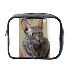 Cornish Rex, Blue Mini Toiletries Bag 2-Side