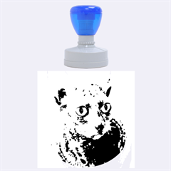 Cornish Rex, Blue Rubber Round Stamps (Large)