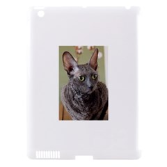 Cornish Rex, Blue Apple iPad 3/4 Hardshell Case (Compatible with Smart Cover)