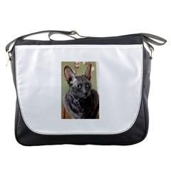 Cornish Rex, Blue Messenger Bags