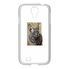 Cornish Rex, Blue Samsung GALAXY S4 I9500/ I9505 Case (White)