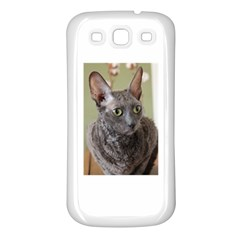 Cornish Rex, Blue Samsung Galaxy S3 Back Case (White)