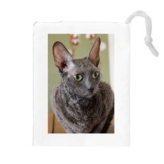 Cornish Rex, Blue Drawstring Pouches (Extra Large)