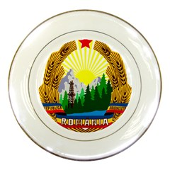 National Emblem Of Romania, 1965 1989  Porcelain Plates