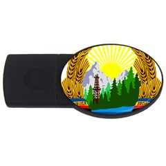 National Emblem Of Romania, 1965 1989  Usb Flash Drive Oval (4 Gb)