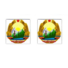 National Emblem Of Romania, 1965 1989  Cufflinks (square)