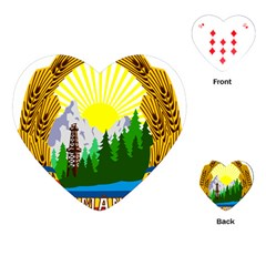 National Emblem Of Romania, 1965 1989  Playing Cards (heart)