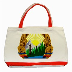 National Emblem Of Romania, 1965 1989  Classic Tote Bag (red)