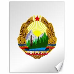 National Emblem Of Romania, 1965 1989  Canvas 18  X 24