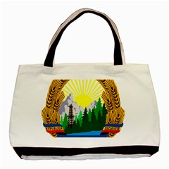 National Emblem Of Romania, 1965 1989  Basic Tote Bag (two Sides)