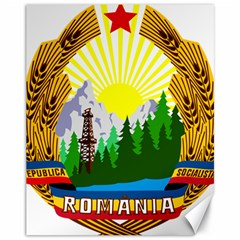 National Emblem Of Romania, 1965 1989  Canvas 11  X 14