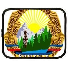 National Emblem Of Romania, 1965 1989  Netbook Case (large)