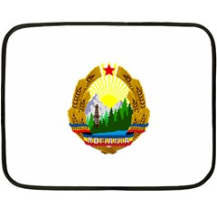National Emblem Of Romania, 1965 1989  Fleece Blanket (mini)
