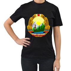 National Emblem Of Romania, 1965 1989  Women s T Shirt (black)