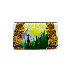 National Emblem Of Romania, 1965 1989  Cosmetic Bag (small)