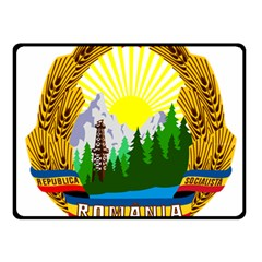 National Emblem Of Romania, 1965 1989  Fleece Blanket (small)