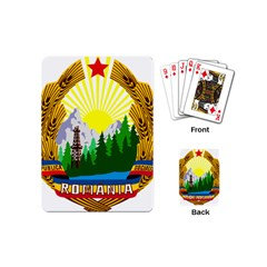 National Emblem Of Romania, 1965 1989  Playing Cards (mini)