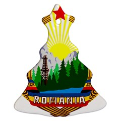 National Emblem Of Romania, 1965 1989  Christmas Tree Ornament (2 Sides)