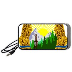 National Emblem Of Romania, 1965 1989  Portable Speaker (black)
