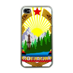 National Emblem Of Romania, 1965 1989  Apple Iphone 4 Case (clear)
