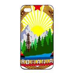 National Emblem Of Romania, 1965 1989  Apple Iphone 4/4s Seamless Case (black)