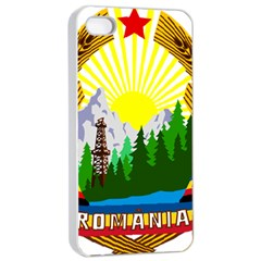 National Emblem Of Romania, 1965 1989  Apple Iphone 4/4s Seamless Case (white)