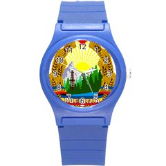 National Emblem Of Romania, 1965 1989  Round Plastic Sport Watch (s)