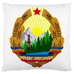 National Emblem Of Romania, 1965 1989  Large Cushion Case (one Side)